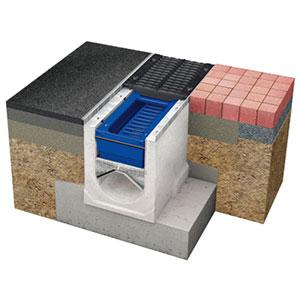 Entwässerungsrinne mit Filter