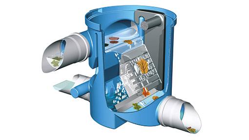 Zisternenfilter für Regenwassertank unterirdisch